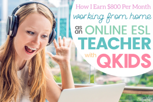 working from home as an online ESL teacher with Qkids