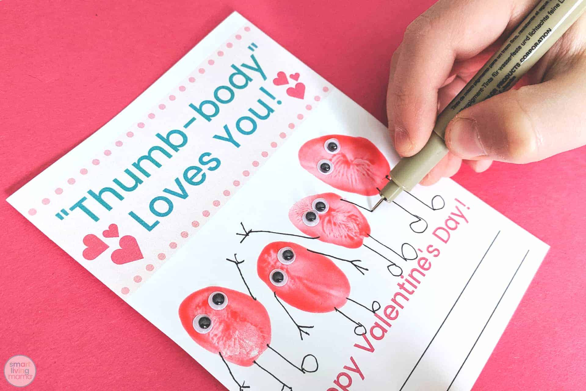 Smart Living Mama - drawing arms on thumbprints
