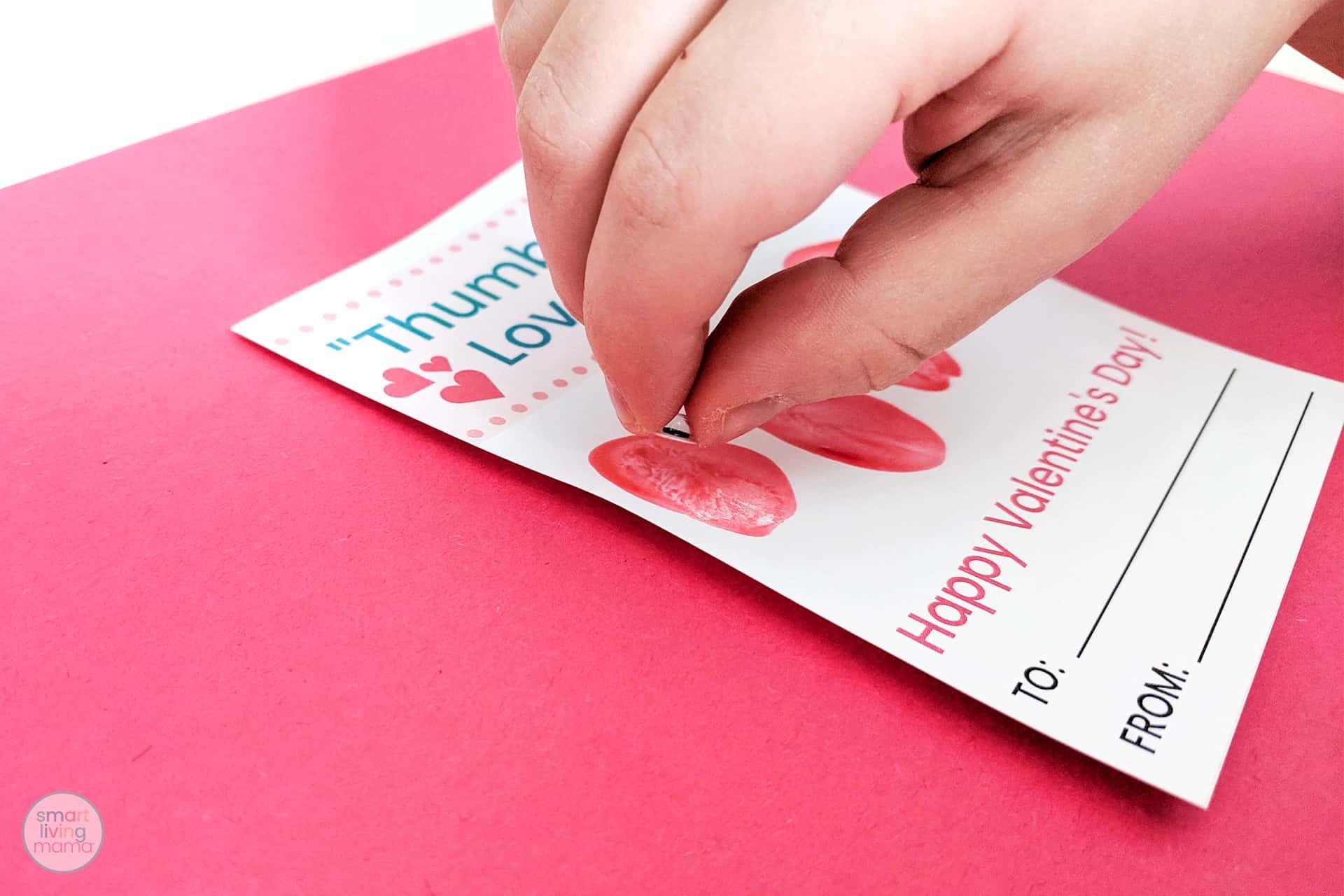 Smart Living Mama - Placing self adhesive wiggle eye on card